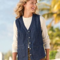Vintage Denim Five-button Vest / Vintage Denim Five-button Vest
