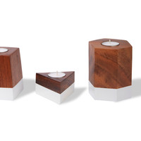 Dipped Geometric Candle Holders | TOMS