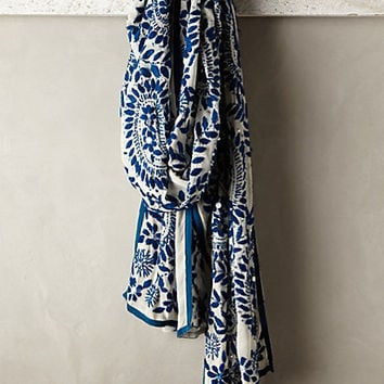 Mariacarla Embroidered Scarf by Anthropologie