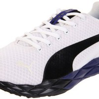 PUMA Men`s Pumagility Cross-Training Shoe,White/Black/New Navy,7 D US