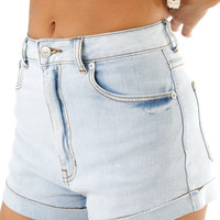 Little Big Town Shorts: Light Denim