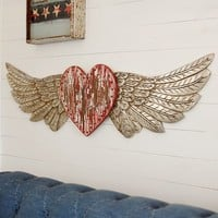 Junk Gypsy Heart With Wings