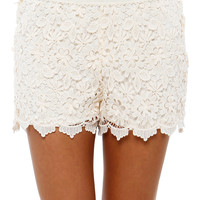 Papaya Clothing Online :: CROCHET LACED SHORTS