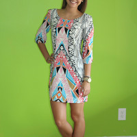 Missing pieces Dress: Multi