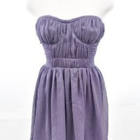 La Rok Dula Purple Strapless Dress