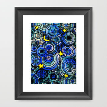 Watery Night Framed Art Print by DuckyB (Brandi)