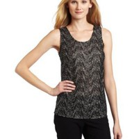 Jones New York Women's Scoop Neck Sleeveless Blouse