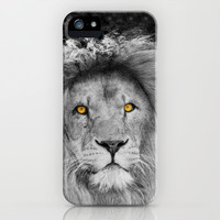 LION BEAUTY iPhone & iPod Case by Catspaws | Society6