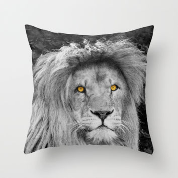 LION BEAUTY Throw Pillow by Catspaws | Society6