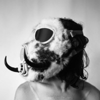 Horned Rabbit Fur Gas Mask by theaccretion on Etsy