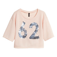 H&M - Knit Top - Pink - Ladies