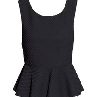 H&M - Peplum Top - Black - Ladies