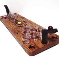 Deluxe Handcrafted Mini Beer Pong Kit