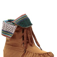 Cognac Tribal Town Lace Up Moccasin Boots @ Cicihot Heel Shoes online store sales:Stiletto Heel Shoes,High Heel Pumps,Womens High Heel Shoes,Prom Shoes,Summer Shoes,Spring Shoes,Spool Heel,Womens Dress Shoes