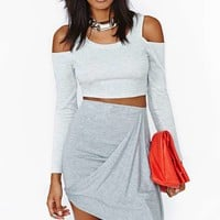 Nasty Gal Lifting Shadows Crop Top