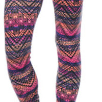 See You Monday Tribal Stripe Leggings