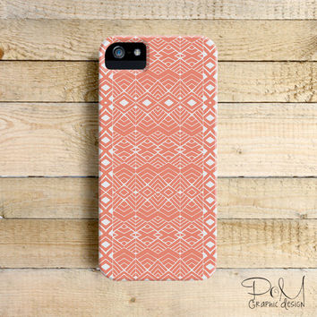 Coral Aztec - iPhone 5/5c case, iPhone 4/4s case, Samsung Galaxy S3/S4
