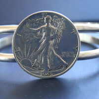 Authentic Silver 1945 Half Dollar Coin Bracelet