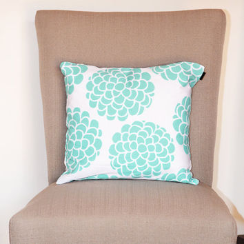 Minimal Blossom Hydrangeas Throw Pillow II for your home decor