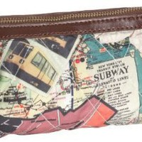 Sydney Love Quilted Subway Print Wristlet