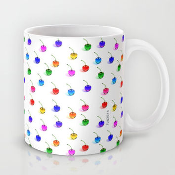 3D Glass Rainbow Cherries Pattern - Mug by THE-LEMON-WATCH