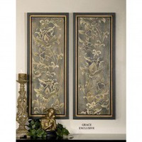 Uttermost Vertical Climb Wall Art (Set of 2) - 41289 - Decor