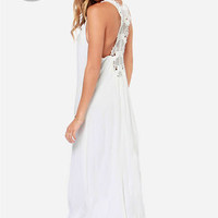 LULUS Exclusive In Perfect Harmony Ivory Maxi Dress