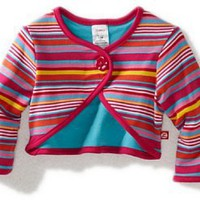 Zutano Girls 2-6X Multi Stripe Reversible Shrug