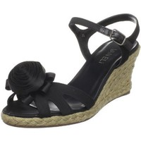 VANELi Women`s Brosca Wedge Sandal,Black,7 M US