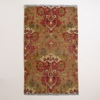 Ophelia Floral Hand-Knotted Wool Area Rug - World Market