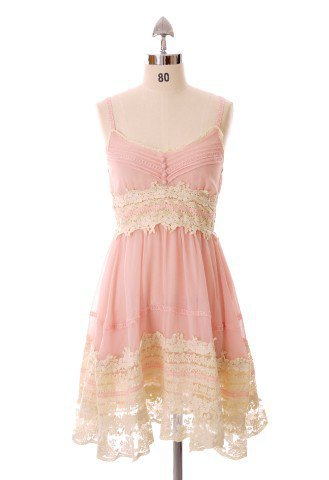 Got a Date Pink Lace Dress - Retro, Indie and Unique Fashion
