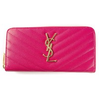 Saint Laurent 'monogram' Zip Around Wallet - Stefania Mode - Farfetch.com