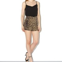 Innocence Brown Leopard Print Shorts