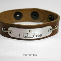 Facebook &quot;like&quot; Bracelet In Leather Or Chain | Luulla