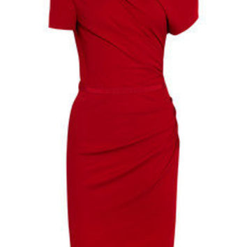 Giambattista Valli | Asymmetric ruched crepe-jersey dress | NET-A-PORTER.COM