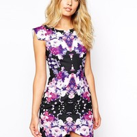 Ginger Fizz | Ginger Fizz Mysterious Girl Dress In Mirror Floral Print at ASOS