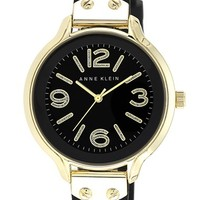 Anne Klein Round Silicone Strap Watch, 38mm