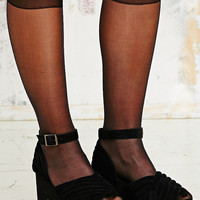 Long Sheer Pop Socks in Black - Urban Outfitters