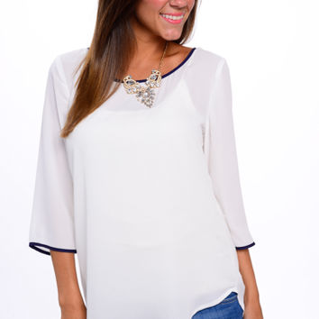 Pipe Dreams Blouse, White