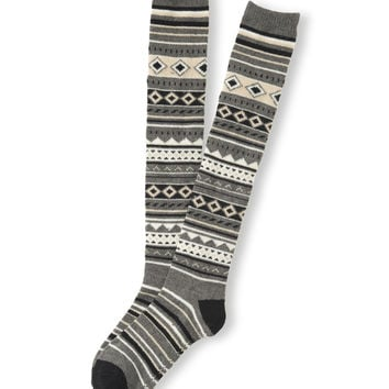 Fair Isle Over-The-Knee Socks