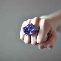 no 292 Amethyst Double Ring by mooreaseal on Etsy