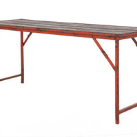 ANTIQUE SWISS ARMY FOLDING TABLE | casegoods & tables | FLEA | Jayson Home & Garden