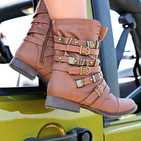 Rebel Spirits Bootie - Tan - TAN /