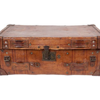 ANTIQUE LEATHER VALISE | curiosities | FLEA | Jayson Home & Garden