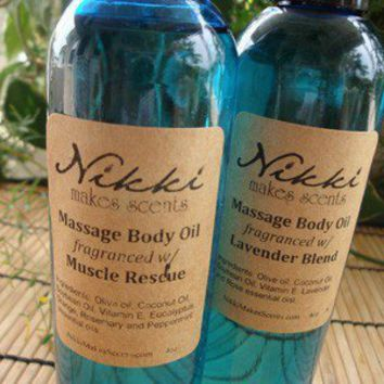 Aromatherapy Massage Oil Unscented by nikkicandles on Etsy