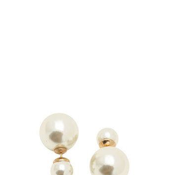Double Faux Pearl Faux Plug Earrings