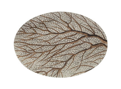 RIGHT FAN CORAL PLATE | tabletop | accessories | Jayson Home &amp; Garden