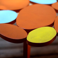 Small Multicolored Circles Coffee Table  IN STOCK by michaelarras