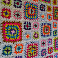 CROCHET BLANKET HANDMADE Cuddle Blanket    Designed by nannycheryl
