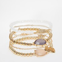 New Look | New Look Pretty Fine Multipack Bracelet at ASOS